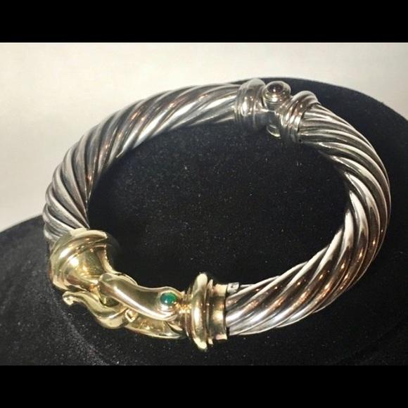 46be639fc7a422 David Yurman Jewelry - David Yurman Lt. Ed Buckle Cable Bracelet 925 585